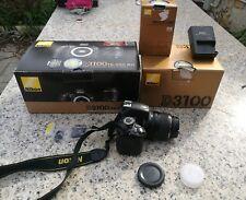 Macchina Fotografica Nikon reflex D3100 con 18-55 scatola e accessori