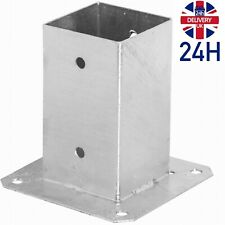 Post Fence Foot Base Support Bolt Down Square Bracket Heavy Duty Galvanised