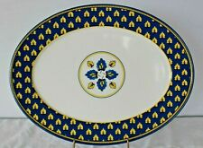 Williams Sonoma ~MARSEILLE~  Melamine Oval Serving Platter Blue & Yellow