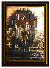 Salvador Dali Gold Edition Bronze Relief Sculpture Lincoln In Dalivision Signed