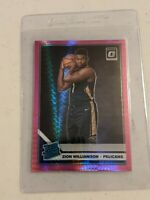 2019-20 Donruss Optic Zion Williamson Hyper Pink Prizm Rated Rookie Pelicans RC