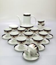 ROSENTHAL Kaffee Service Serie Variation Dekor  Limes / Design Tapio Wirkkala