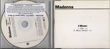 Madonna VERY RARE 2trk PROMO CD 4 Minutes ACETATE / WHITE DISC !!!