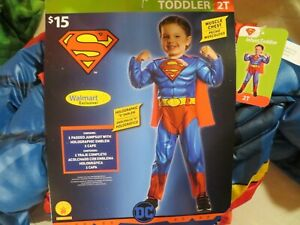 NWT Toddler Boys Rubie's Superman Halloween Costume, 2T