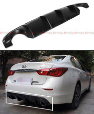 PRIMERED BLACK SPORT STYLE REAR BUMPER DIFFUSER BODY KIT LIP FOR INFINITI Q50