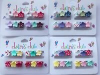12 Claire's Baby Girl kids Small mini flower Styling Hair clips Clamps Claws