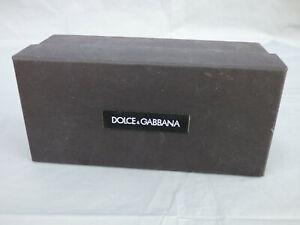 "Dolce & Gabbana Black Empty Sunglasses Glasses Box Gift or Storage 7"" x 3"""