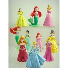 Princess Figures Toy Aurora Belle Cinderella Ariel Tinkberbell 10 pcs + Charm