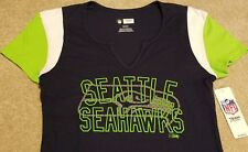 NEW Sexy Seattle Seahawks NFL Football Shirt Blue Womens Large L