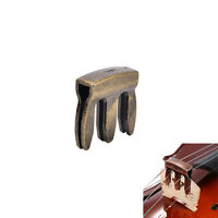 1pc violin viola practice metal mute fiddle silencer 3 prong high quality、2018