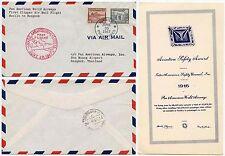 PHILIPPINES to THAILAND SIAM PAN AM CLIPPER AIRMAIL FIRST FLIGHT 1947 HANDSTAMP