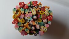 Fimo mixed nail canes for nail art x25 NEW cake fruit duck bear UK seller A229