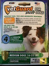Dog Flea Tick Lice Treatment Control Medicine 4 Month Prevention For Medium Dogs