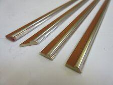3.4m (4x85cm) Silver Wooden Slip Mount Fillet Picture Frame Moulding 10x4mm