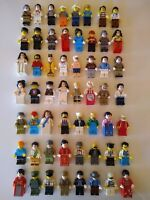 Minifigures Lot of 10 City Guy Girls Man Army Person Sets Minifigs Block Bricks