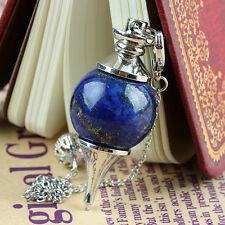 1X Lapis Lazuli Gemstone Round Bead Pendulum Healing Dowsing Reiki Chakra Charms