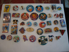 OLD DISNEY COLLECTIBLE MIXED LOT OF 40 PINBACKS, BUTTONS & MORE LOT 7
