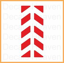 2pcs Red Reflective Pannier Back Decal Kit Set Safety Sticker M5, Reflectors