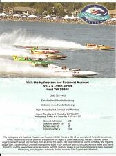 """Hydroplane and Raceboat Museum Information Card - 5 1/2"""" x 8 1/2"""""""