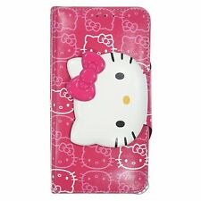 HELLO KITTY Face Button Flip Case for Samsung Galaxy Note4 Wallet Diary Cover H