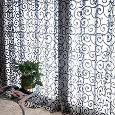 Rideau fils à fil voilage porte fenêtre voile moustiquaire maison décor couleurs