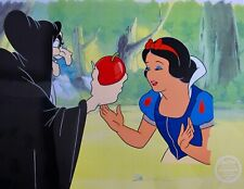 DISNEY SNOW WHITE & THE EVIL QUEEN Sericel Animation Art Cel with COA