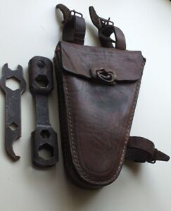 Vintage 1930s German Bicycle leather tool box spanner wrench