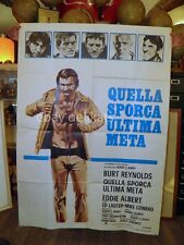 QUELLA SPORCA ULTIMA META Burt Reynolds film  ORIGINAL POSTER Rugby football