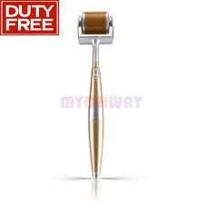 Portable Titanium Micro 192 Needles Derma Skin Roller Acne Scar Wrinkle Anti-Age