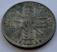1914 SILVER FLORIN COIN KING GEORGE V - FABULOUS CONDITION - 11.35g 0.925