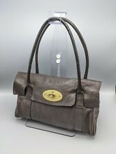 Mulberry East West Small Bayswater Handbag Dark Brown  Leather