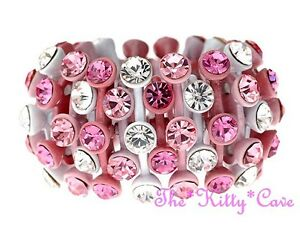 Designer Shabby Chic Colourful Enamelled Bling Cones Ring w/ Swarovski Crystals