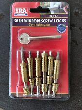 ERA Sash Window Screw Locks - Brass (6 Pieces)