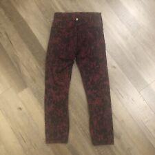 Lululemon Wunder Under High Rise 6 Scattered Blossom Garnet Black Legging Pant