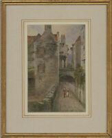 J. Norman Rowsell - Signed & Framed 1890 Watercolour, Edinburgh Street Scene