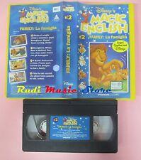 film VHS MAGIC ENGLISH DISNEY'S la famiglia Family VOL. 2 inglese (148**) no dvd