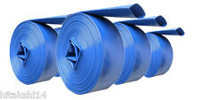 "10 M X 4.0"" 100 MM ID LAY FLAT HOSE BLUE FOR WATER TRANSFER PUMPS/DISCHARGE"