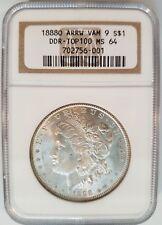 1888 O Morgan Silver Dollar NGC MS 64 VAM 9 Arrow DDR-TOP 100 Mint Error Coin