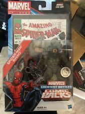 Marvel Universe Comic Packs SPIDER-MAN RHINO Figures TRU Hasbro Greatest Battles