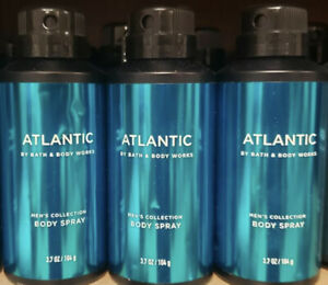 3-Atlantic By Bath And Body Works Men's Collection Body Spray 3.7oz
