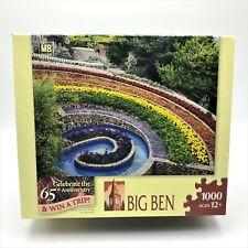 Big Ben 1000 piece puzzle sealed Devon England flower garden 2007