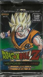 Dragon Ball Z Heroes and & Villains Panini TCG Game Booster 12 Card Pack DBZ x1