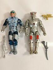 Vintage 1986 Mattel Captain Power Masterson & Soaron Sentry Action Figures Used
