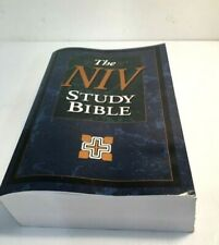 THE NIV Study Bible -New International Version-Large Print Edition- Red Lettered