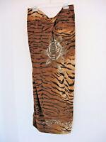 *NWOT* ED HARDY Animal Print Crystal Rose Tatoo Strapless Dress Size Large