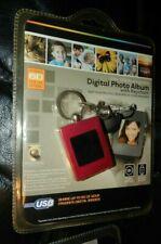 Digital Photo Album Key Chain NIB 8Mb USB Rechargeable PC/MAC PINK