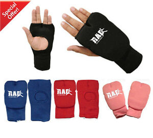 New Karate Mitts Elasticated Cotton Martial Arts Boxing MMA Training Small-XL