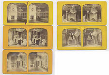 5-1860's HOLD TO LIGHT TISSUE STEREOVIEWS, FANTASTIC INTERIORS, FRANCE