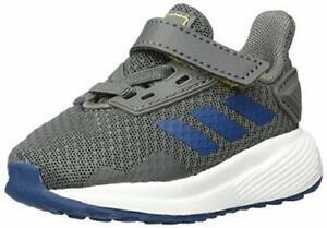adidas Baby Boys Duramo 9 Shoes, Grey/Legend Marine/Shock Yellow, 3 Infant