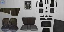 Mercedes Sl R / W107 Seat Covers Back Seat + Rug + Belts Black Package!